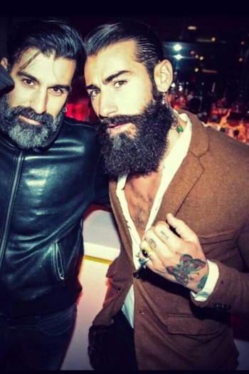 Bad boys with awesome beards and sense of fashion - love it - mens style