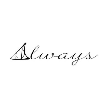 Harry Potter Deathly Hallows Symbol Always Quote by danadecals