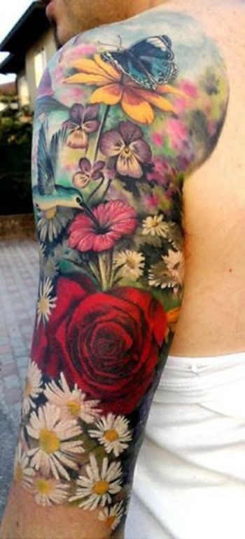 Daisy Flower Tattoos  InkDoneRight Daisies are a simple and widely commonplace flower, but they make