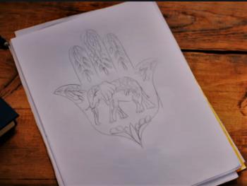 Mehndi Hamsa hand and elephant <3 By Alice: Tattoo Fixers