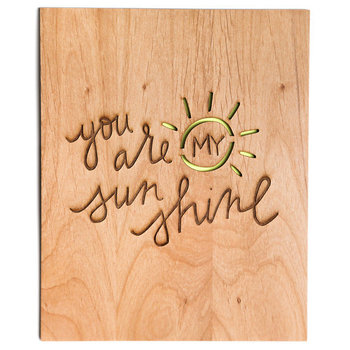 You Are My Sunshine Art Print Nursery Decor by Cardtorial on Etsy, $30.00