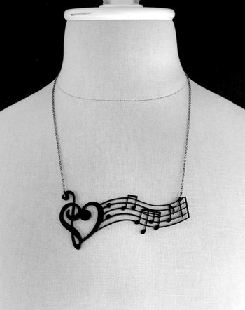 Music Notes & necklace. #musicstyle #musicfashion http://www.pinterest.com/TheHitman14/hey-ladies-musical-fashion/
