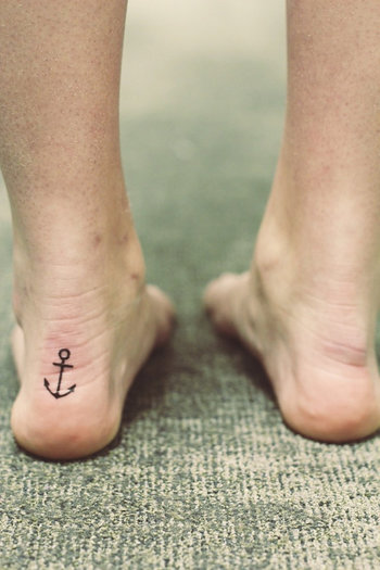 Temporary Tattoo Anchor by FleetingInk on Etsy, $0.70