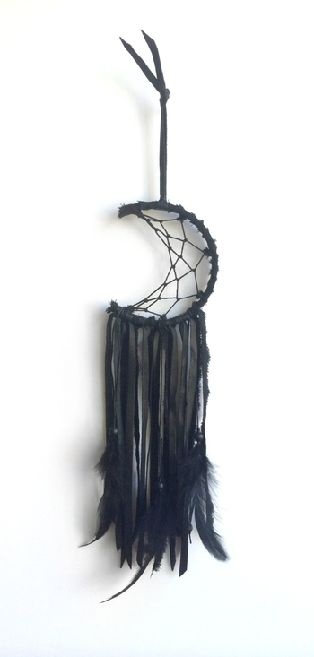 crescent moon dreamcatcher. I'm not usually into