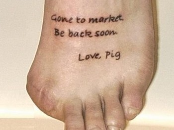 foot tattoo - Foot Tattoos