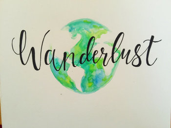 Wanderlust Globe Watercolor Painting