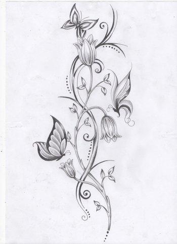 Flower vine and Butterflies by Ashtonbkeje on deviantART