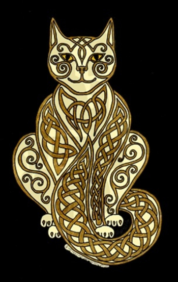 Celtic Cat. I did a wood burning of a Celtic Cat sometime ago. Same idea but very different. I though