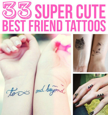 33 Super Cute Best Friend Tattoos