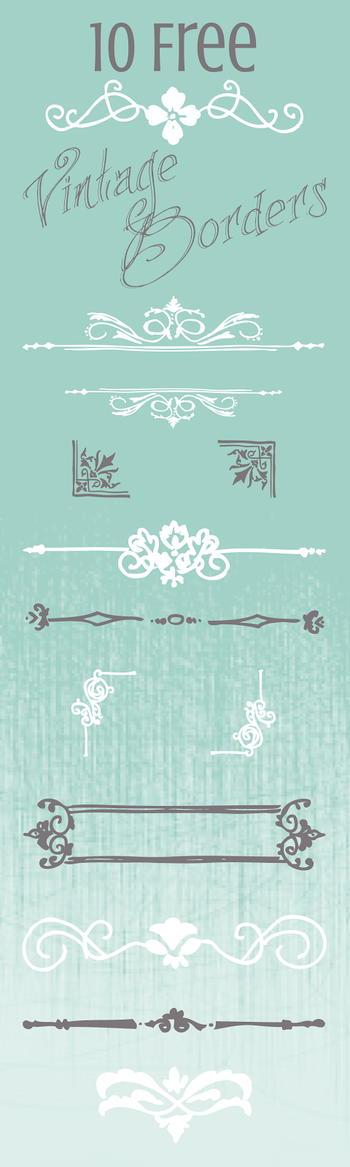 10 Free Vintage Border Graphics for your