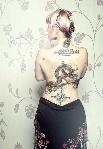 The girl with the Victorian tattoo by FLASHFLOOD®, via Flickr