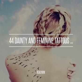 44 Dainty and Feminine Tattoos ...
