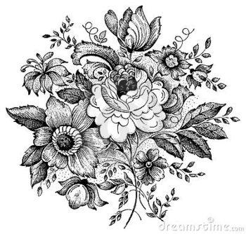 Vintage flower vector illustration