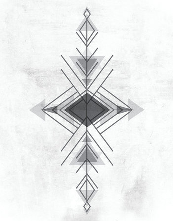 Black & White Aztec Geometric Triangle Neutral by LiveLoveStudio, $30.00