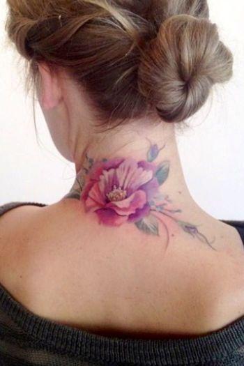 15 Pretty Neck Tattoos for Women - Pretty Designs