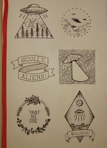 x-files inspired designs - okay