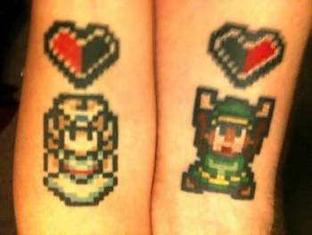 I like the zelda & link...Old school...& without the hearts