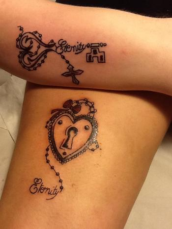 Husband and wife Heart Lock and Key to Love tattoo Follow Us: www.jevelweddingplanning.com www.facebo