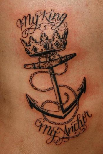 My king my anchor Tattoo Picture | Last Sparrow Tattoo