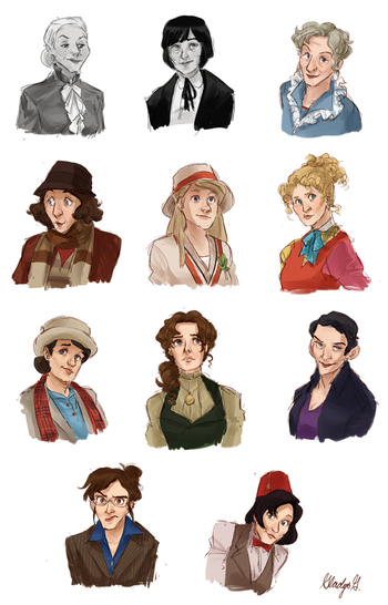 Female Doctor Who Drawings   Cabbage Dan