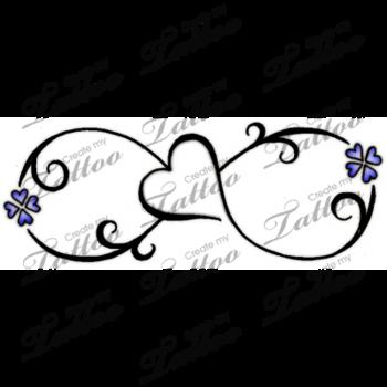 Marketplace Tattoo Infinity love Symbol Tattoo #13784   CreateMyTattoo.com