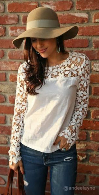 Cut Out Crochet - Top