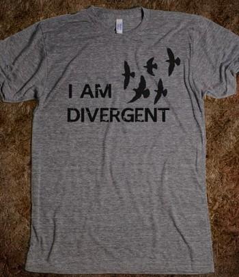 I am Divergent | Athletic T-shirt | Skreened