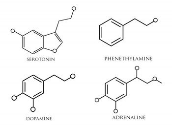dopamine molecule ionic bond - Google Search