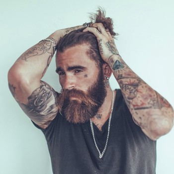 """Model on Instagram: """"Oldie but a goodie  Photo by @chrissoll miss shooting with you boy  #ChrisPerceval #beardsandtats #beard #tattoos"""""""