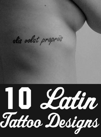 Top 10 Latin Tattoo Designs