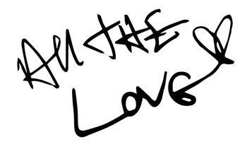 All The Love Vinyl Sticker - Harry Styles Handwriting