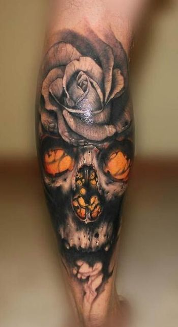 Skull Tattoos For Men| InkDoneRight You might think that skull tattoos symbolize death. Nothing coul