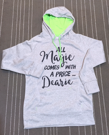 Once Upon a Time - Quote All magic comes with a price dearie hoodie sweatshirt