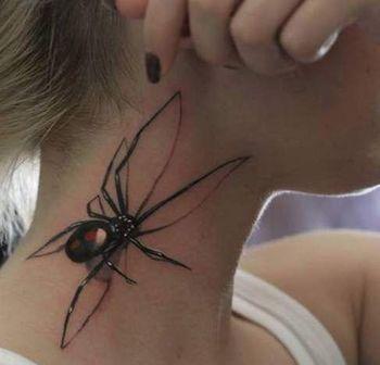 tatuaże pająki 3d