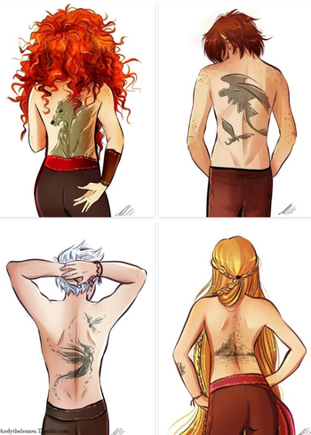 HAHA! Why do I have Tooth on my back?! The others are pretty cool and accurate, I think. And my stanc