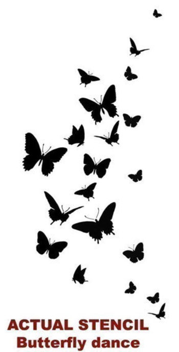 Wall stencil Butterfly Dance - Easy Wall Stencil for Nursery Decor - Better than Decals. $32.95, via