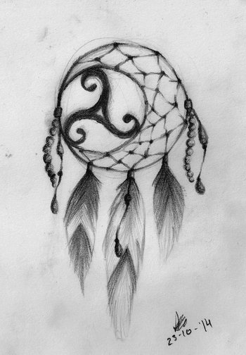 Dreamcatcher Triskel tattoo design