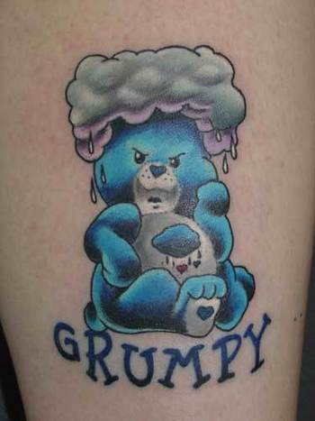 Gallery For > Grumpy Care Bear Tattoo