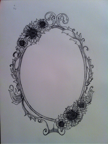 Like this idea to pull together half sleeve. Maybe not a full frame and change to roses.