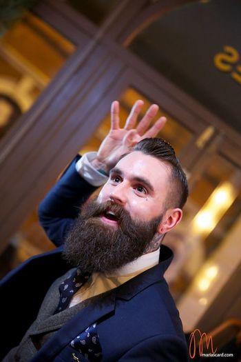 Ricki Hall looking awesome - full thick dark beard and mustache undercut beards bearded man men mens'