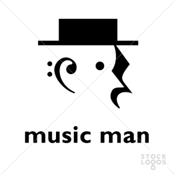 Exclusive Customizable Logo For Sale: Music Man | StockLogos.com