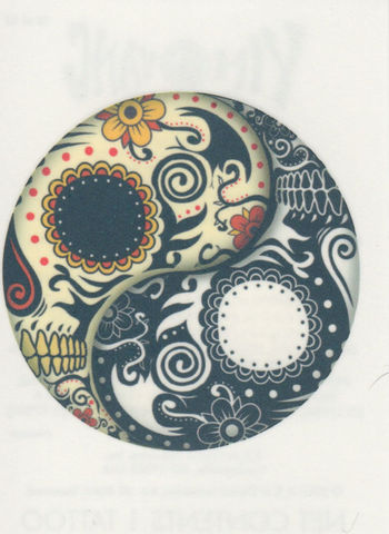 ❤ Temporary Tattoo ❤ Yin Yang Day of The Dead Skull ❤ Made in The USA | eBay