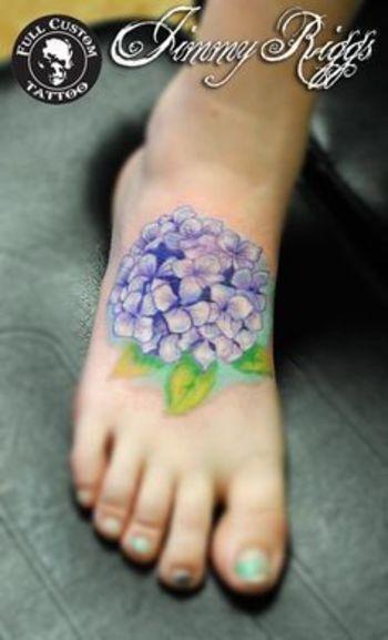 watercolor hydrangea tattoo - Google Search