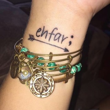 Ehfar, means everything happens for a reason, the arrow to keep me in the right direction and the sem