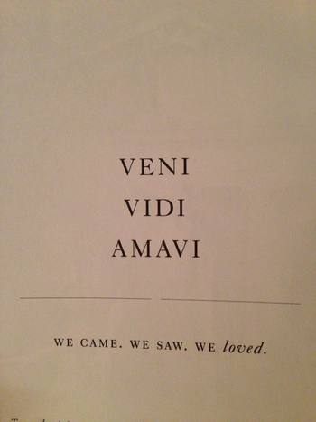 Veni Vidi Amavi ~~~ We Came We Saw We Loved www.farawaycruises.co.uk www.travelhotspot.co.uk www.biya