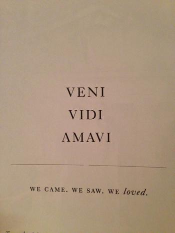 Veni Vidi Amavi ~~~ We Came We Saw We Loved www.farawaycruises.co.uk www.travelhotspot.co.uk www.biya