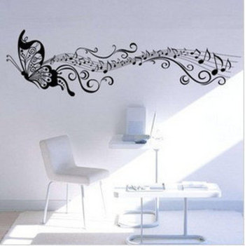 love the idea of the musicical notes trialing behind the butterfly may add this into my tattoo for my