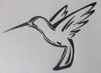 Tattoos Of Humming Bird: Hummingbird Tattoo Black