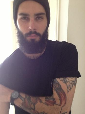 full thick black beard and mustache beards bearded man men so handsome !! tattoos tattooed #keepitgro