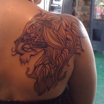 My amazing lion tattoo I got last year. Favorite so far :)